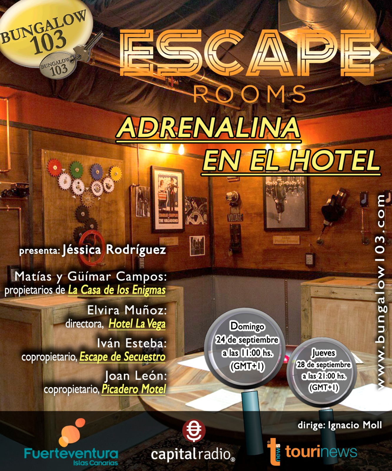 ESCAPE ROOMS, ADRENALINA EN EL HOTEL